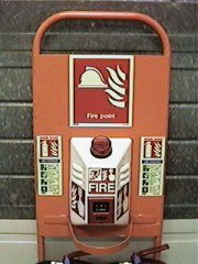 Fire Alarm set in trolley, with or without fire extinguishers, to buy or rent